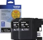 LC1032PKS Brother High Yield Black Ink Cartridge 2pk