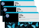 B6Y39A HP 771A 3-pack 775-ml Matte Black Designjet Ink Cartridges