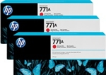 B6Y40A HP 771A 3-pack 775-ml Chromatic Red Designjet Ink Cartridges