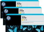 B6Y42A HP 771A 3-pack 775-ml Yellow Designjet Ink Cartridges