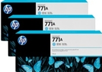 B6Y44A HP 771A 3-pack 775-ml Light Cyan Designjet Ink Cartridges