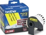 DK2606 Brother 2.4 in x 50 ft Black on Yellow Continuous Film Tape